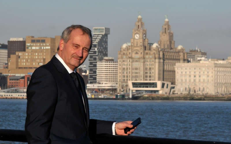 Tom Cullen Managing Director of Digitel Group by the Mersey