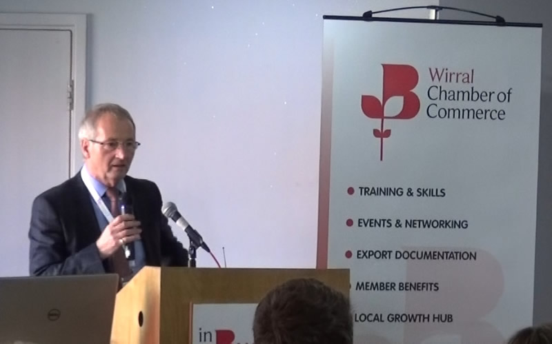 Tom Cullen speaks at Wirral Chamber In Business Conference (Video)